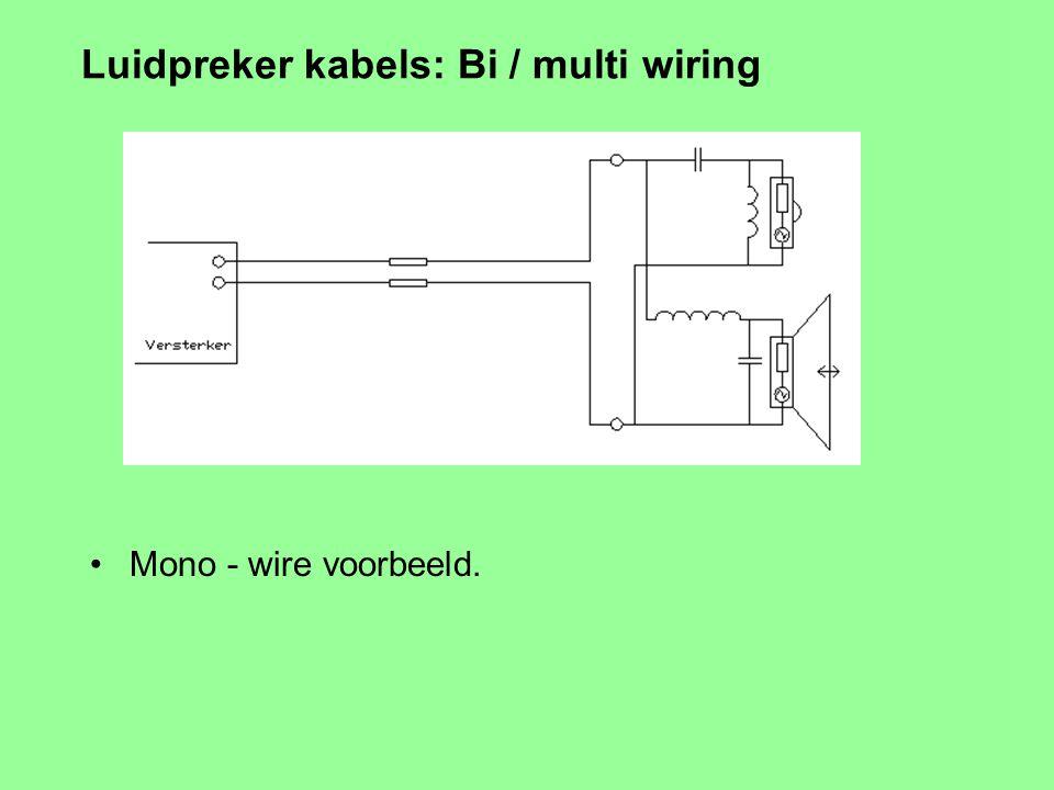 Demping van de luidspreker (5 / ) Luidspreker kijkt in een resonantiekring ! Afgestemd op ca. de cross-over frequentie Remedie: Gebruik multi-amping +