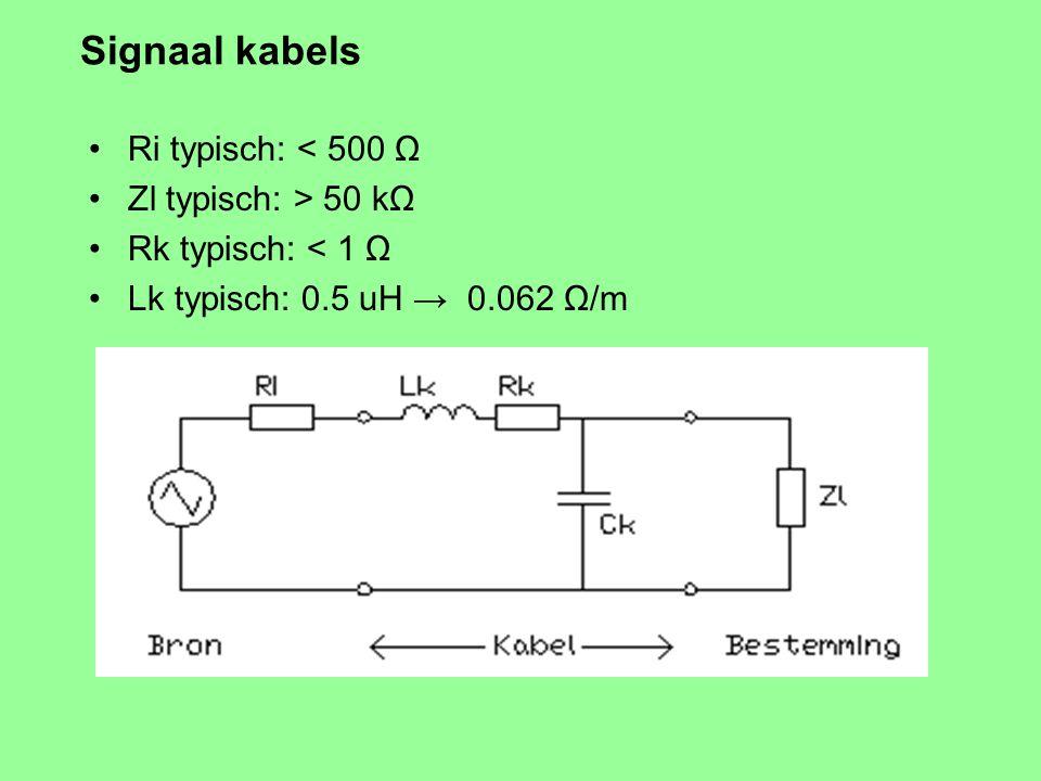 Luidpreker kabels: Conclusies Weerstand / zelfinductie : Hou ze kort. Kleine lus. Weerstand, Skin-effect: Hou ze dik. Grotere doorsnede wint het altij