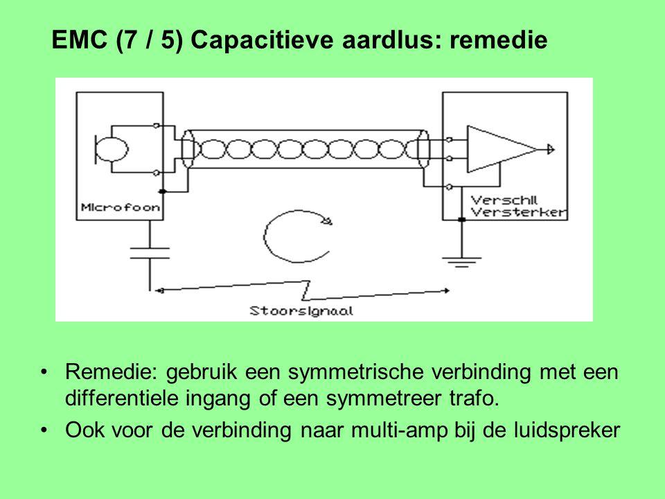 EMC (6 / 5) Buiten de band Meestal naburige zender (legaal of illegaal) Koppelweg boven 30 Mhz: antenne werking Niet direct hoorbaar, vertaal mechanis