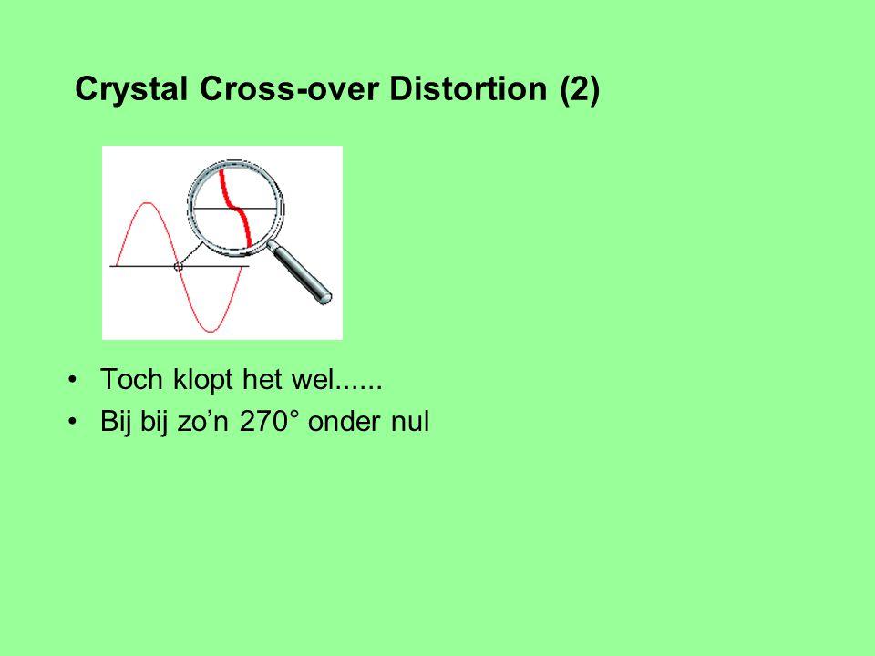 Wat staat er in die grafiek? spannig? stroom? weerstand? Wat zijn de schaal factoren? Wat wordt hier gesuggerereerd? Crystal Cross-over Distortion (1)
