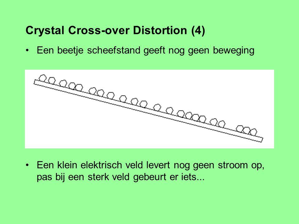Vergelijk het met een plaat met zandkorreltjes Elektronen zijn bij –270° sterk gebonden aan atoom / kristal Crystal Cross-over Distortion (3)