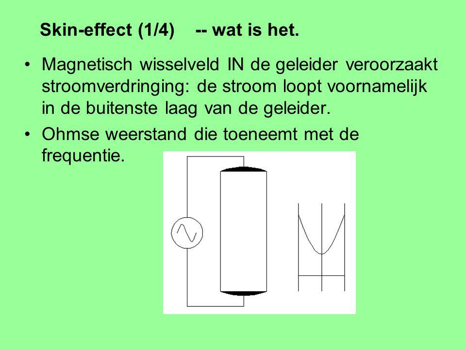 Isolatie materialen (diëlectrica) in kabels Kabel capaciteit speelt meestal geen rol.