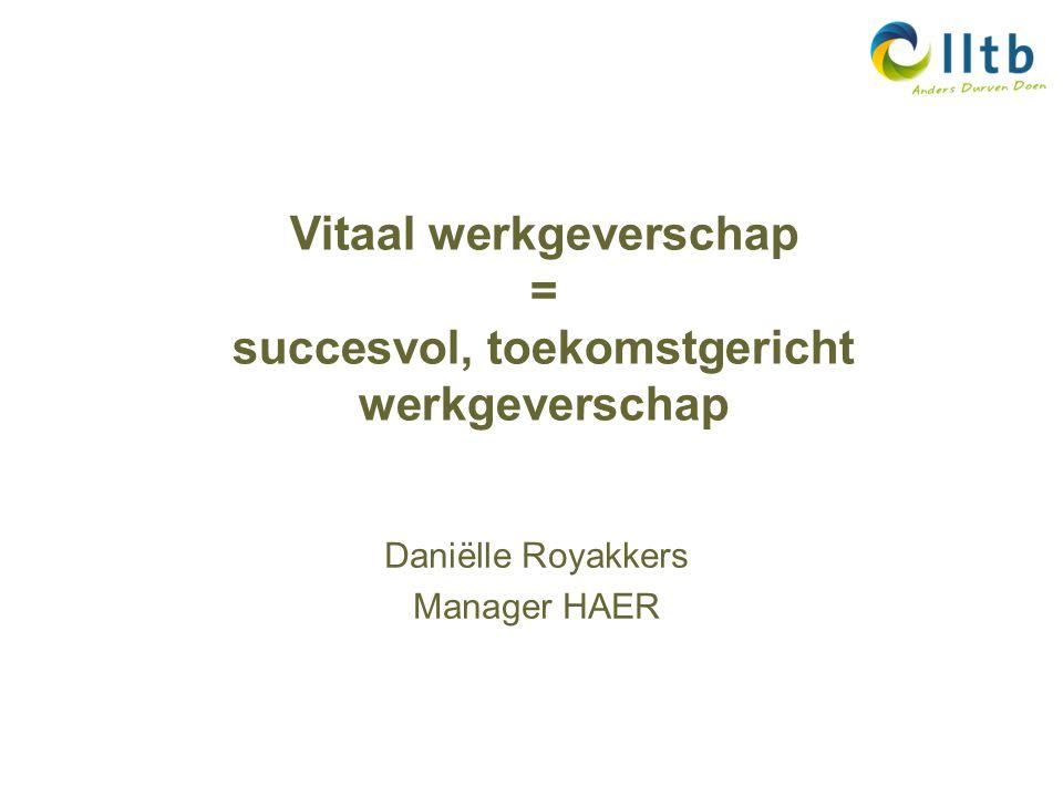 Vitaal werkgeverschap = succesvol, toekomstgericht werkgeverschap Daniëlle Royakkers Manager HAER