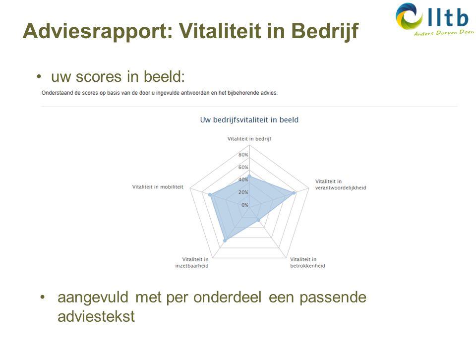 Adviesrapport: Vitaliteit in Bedrijf uw scores in beeld: aangevuld met per onderdeel een passende adviestekst