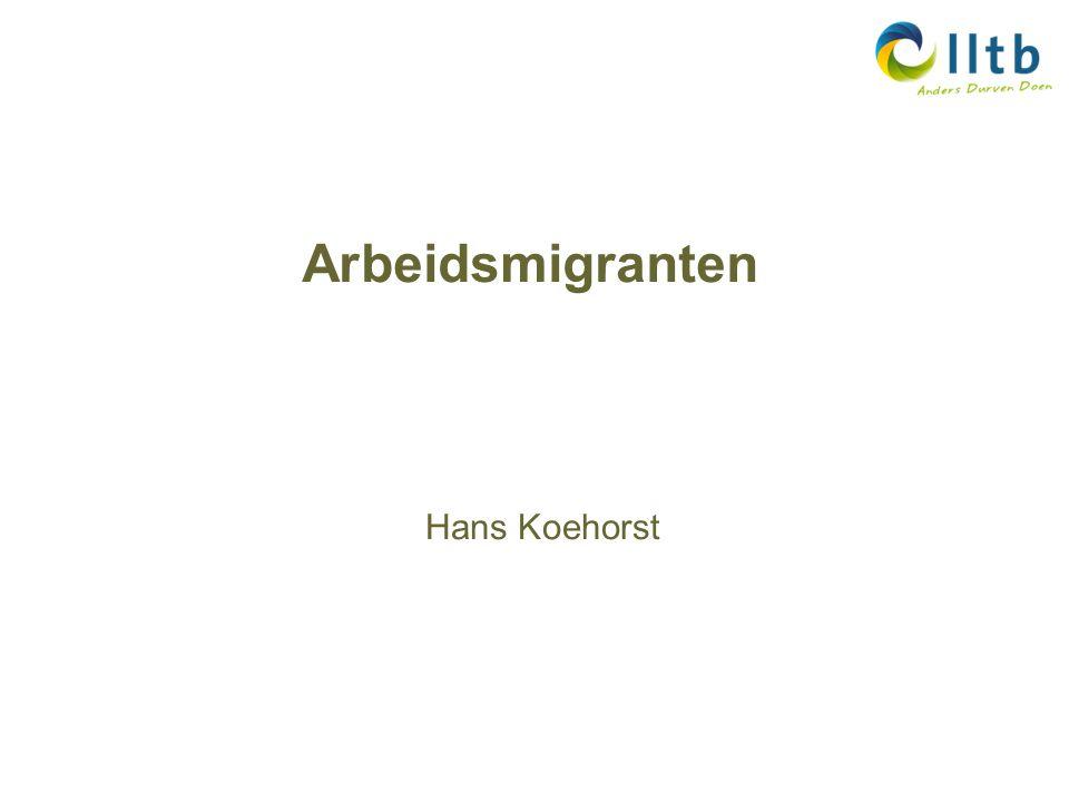 Arbeidsmigranten Hans Koehorst