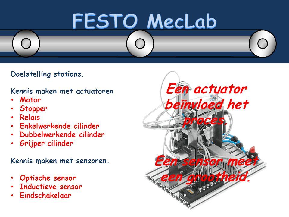 Voor 2 stations is perslucht een vereiste.FESTO kan een geluidsarme compressor leveren.