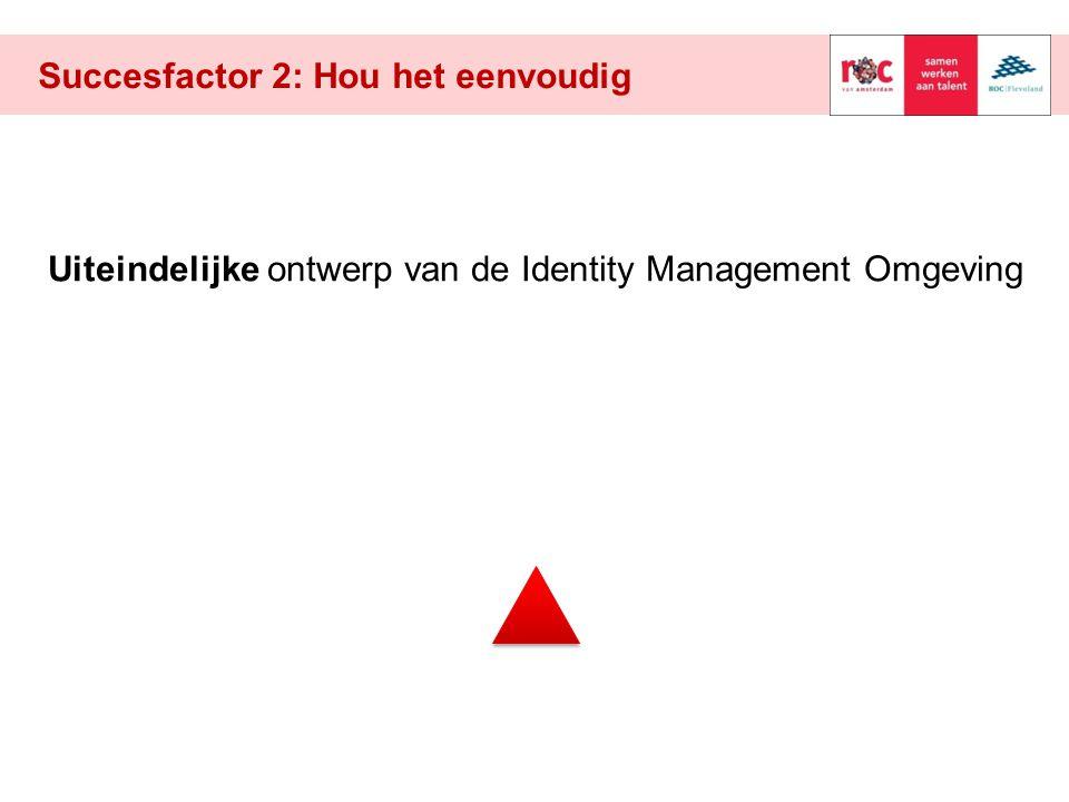 Succesfactor 2: Hou het eenvoudig Uiteindelijke ontwerp van de Identity Management Omgeving