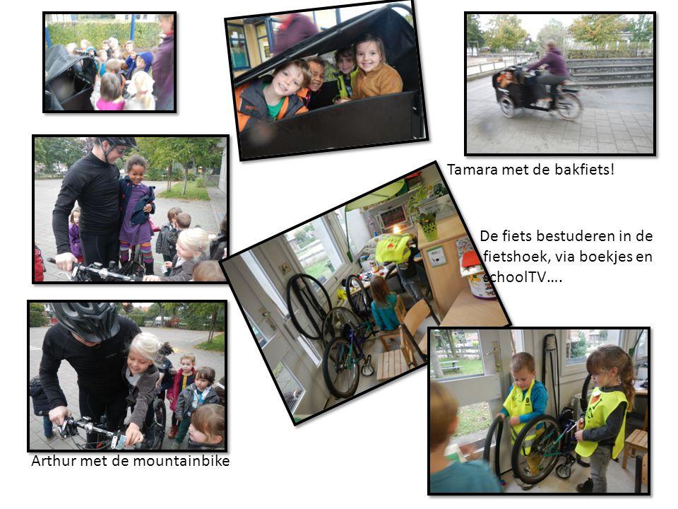 Vzw basis kwam vertellen over de fietsen en met ons banden plakken!