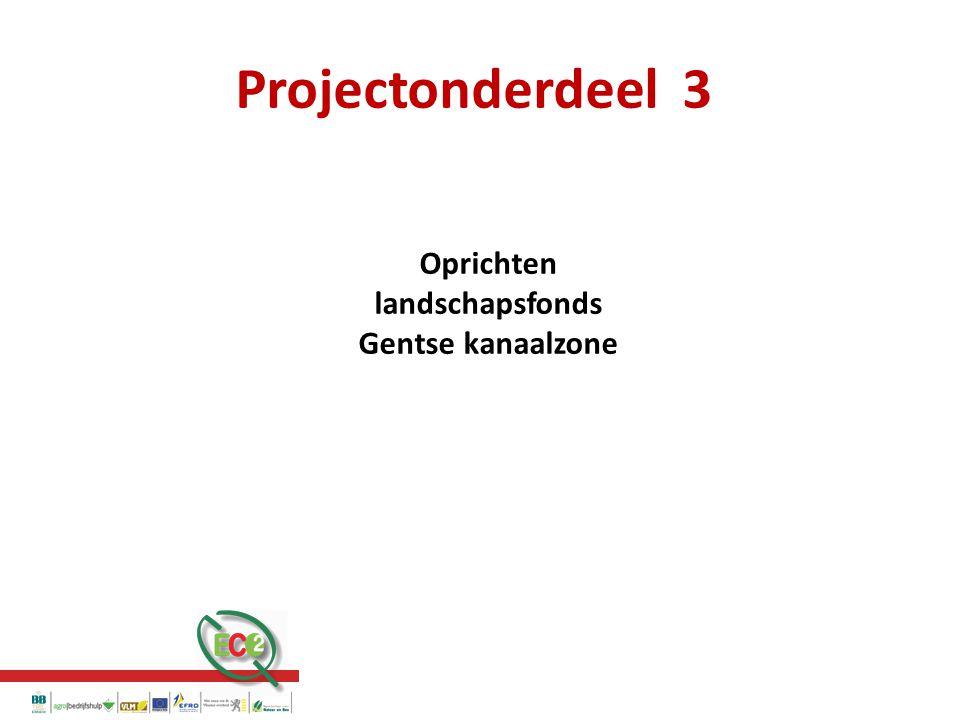 Projectonderdeel 3 Oprichten landschapsfonds Gentse kanaalzone