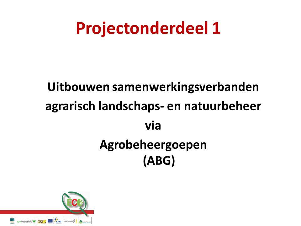 Projectonderdeel 1 Uitbouwen samenwerkingsverbanden agrarisch landschaps- en natuurbeheer via Agrobeheergoepen (ABG)