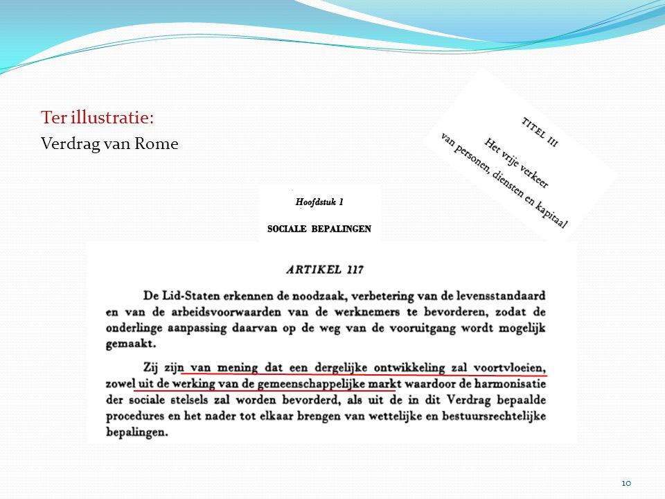 10 Verdrag van Rome Ter illustratie: