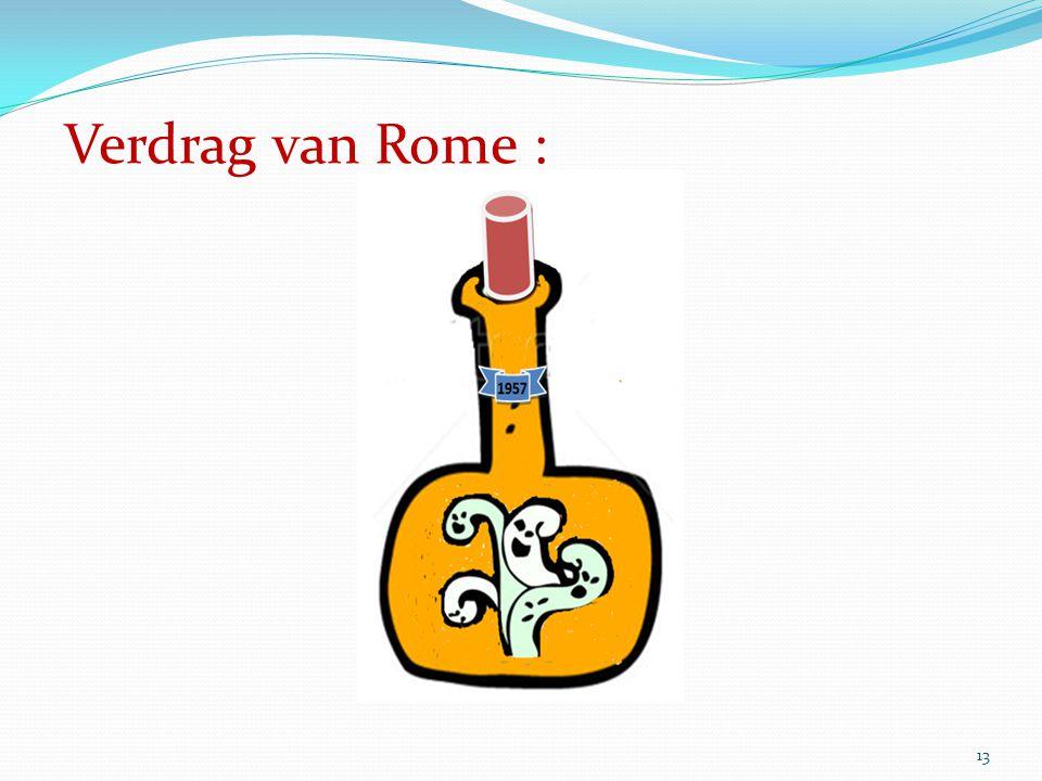 13 Verdrag van Rome :
