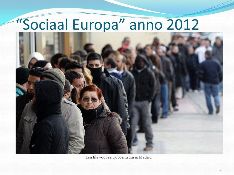 """""""Sociaal Europa"""" anno 2012 33 Een file voor een jobcentrum in Madrid"""
