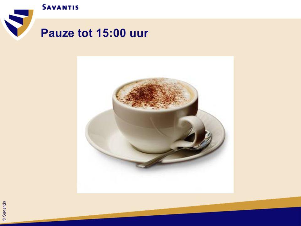 © Savantis Pauze tot 15:00 uur