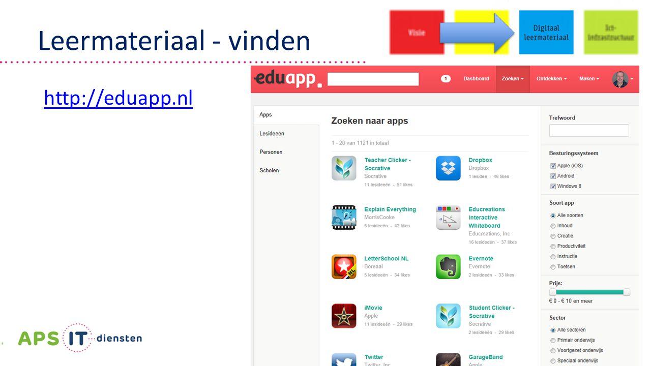 | 30 | Leermateriaal - vinden http://eduapp.nl