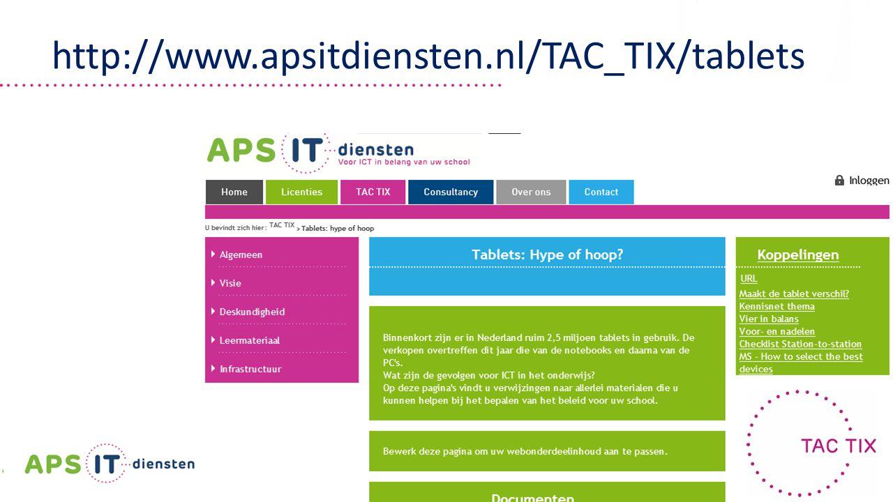 | 49 | http://www.apsitdiensten.nl/TAC_TIX/tablets