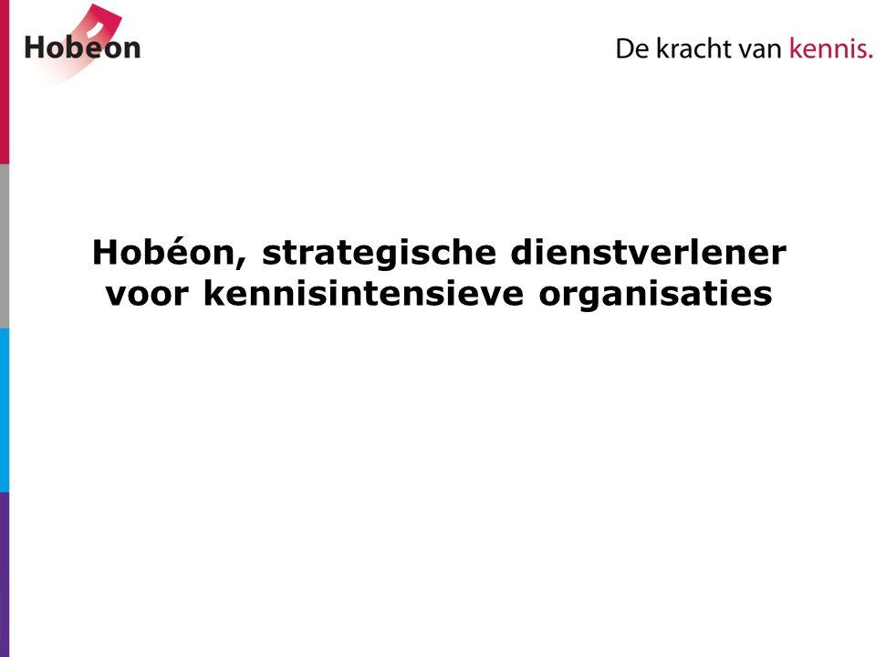 Hobéon, strategische dienstverlener voor kennisintensieve organisaties