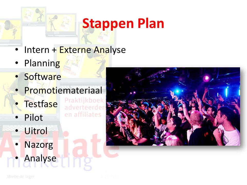 Stappen Plan Intern + Externe Analyse Planning Software Promotiemateriaal Testfase Pilot Uitrol Nazorg Analyse