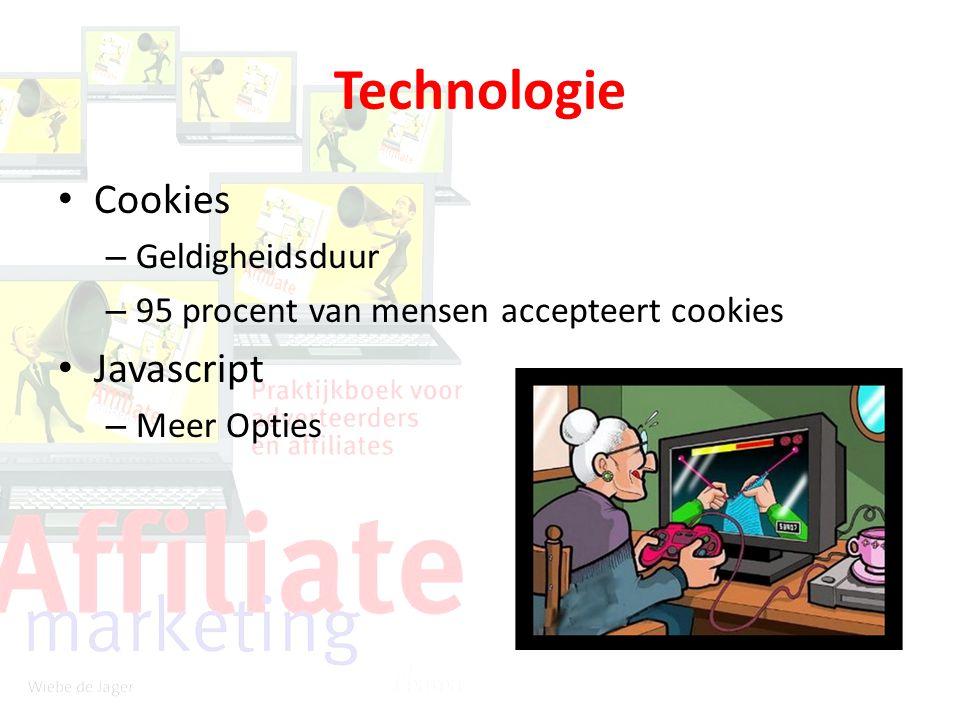Technologie Cookies – Geldigheidsduur – 95 procent van mensen accepteert cookies Javascript – Meer Opties