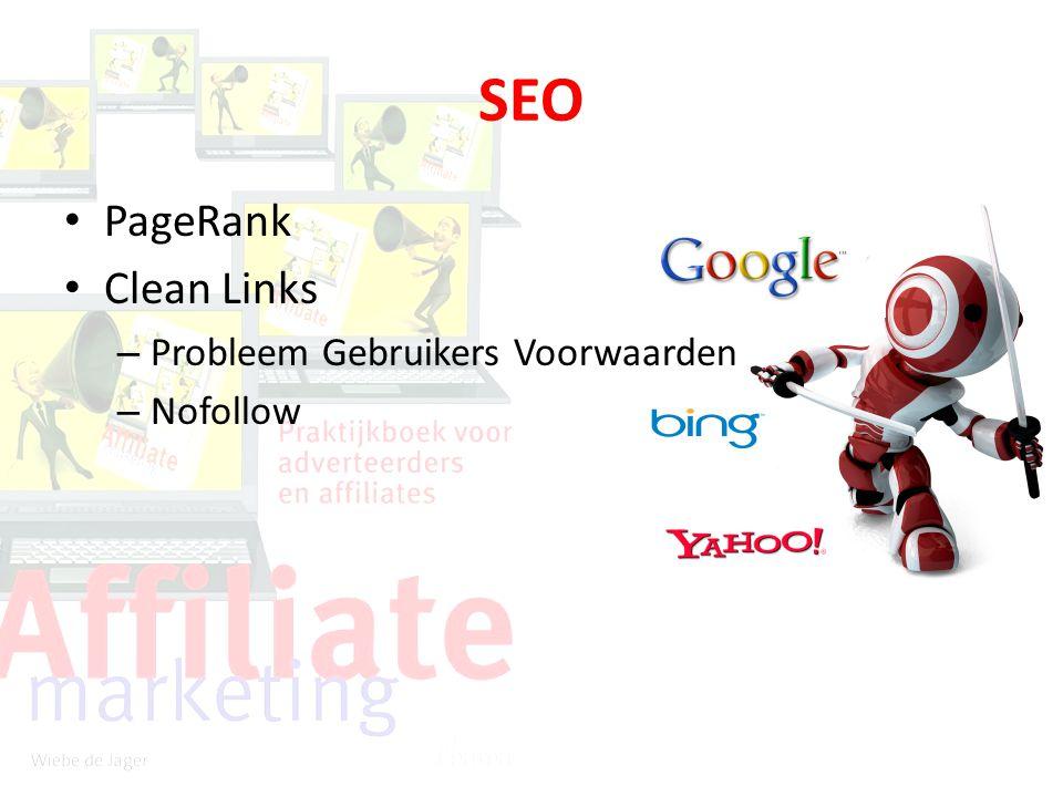SEO PageRank Clean Links – Probleem Gebruikers Voorwaarden – Nofollow
