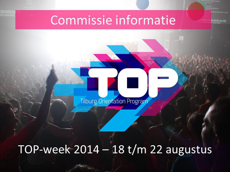 Commissie informatie TOP-week 2014 – 18 t/m 22 augustus