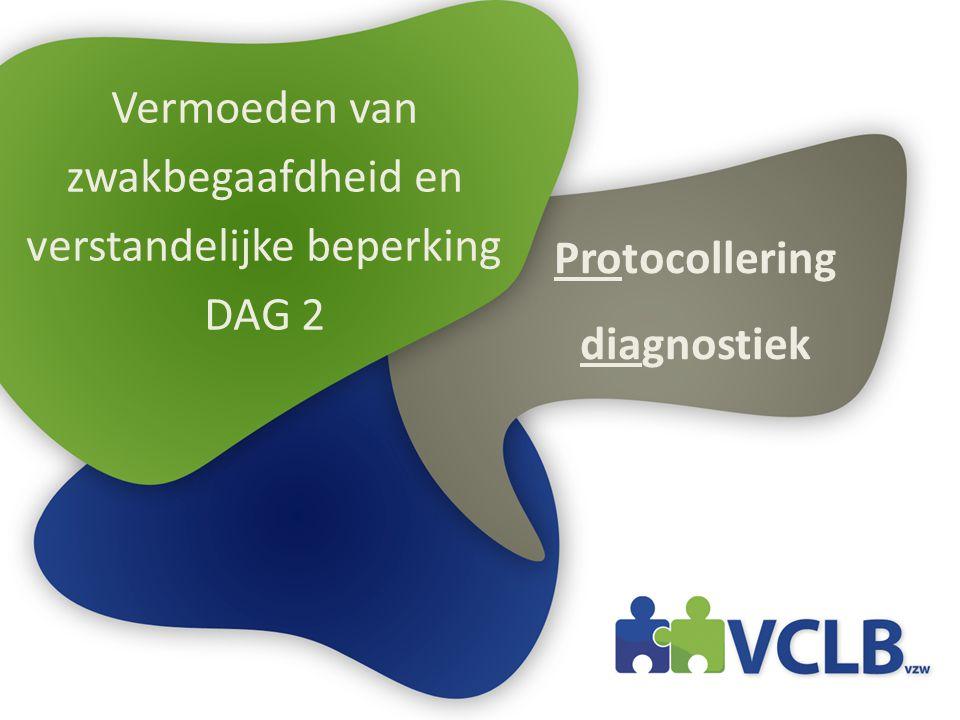 Vermoeden van zwakbegaafdheid en verstandelijke beperking DAG 2 Protocollering diagnostiek