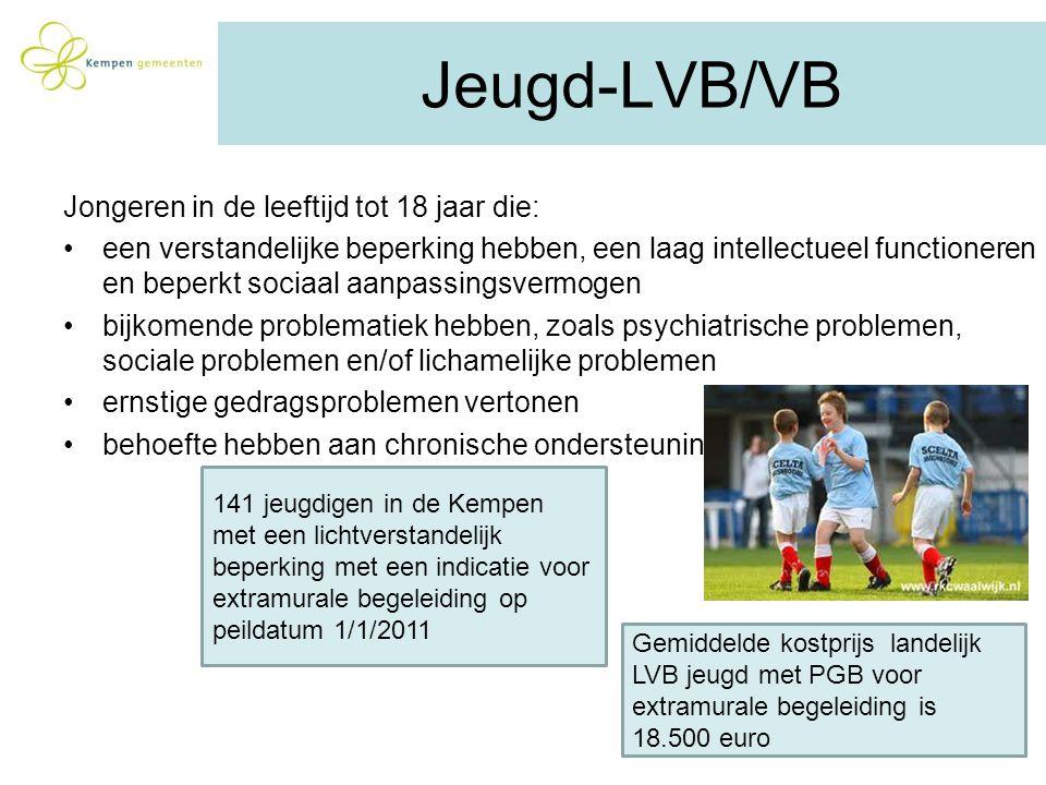 Jeugd-LVB/VB Jongeren in de leeftijd tot 18 jaar die: een verstandelijke beperking hebben, een laag intellectueel functioneren en beperkt sociaal aanp