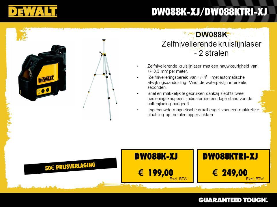 DW088K Zelfnivellerende kruislijnlaser - 2 stralen DW088K-XJ/DW088KTRI-XJ Excl.