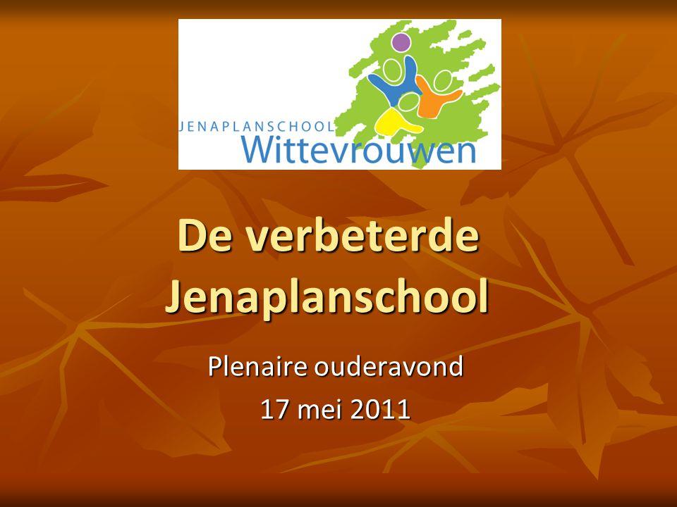 De verbeterde Jenaplanschool Plenaire ouderavond 17 mei 2011