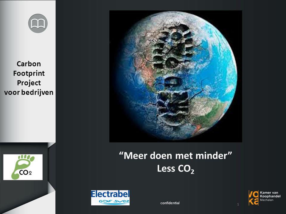 confidential Carbon Footprint Project voor bedrijven Meer doen met minder Less CO 2 1