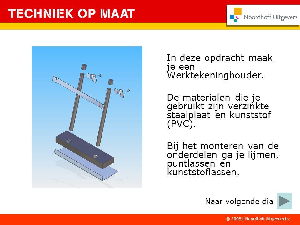 © 2008   Noordhoff Uitgevers bv Je begint met de onderdelen van verzinkte staalplaat.