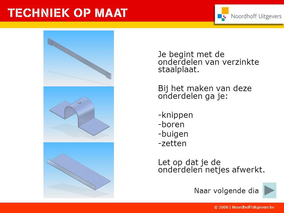 © 2008   Noordhoff Uitgevers bv De kunststof onderdelen moet je eerst voorbewerken.