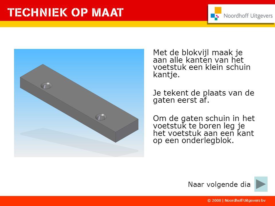 © 2008   Noordhoff Uitgevers bv Het voetstuk wordt op de grondplaat gelijmd.