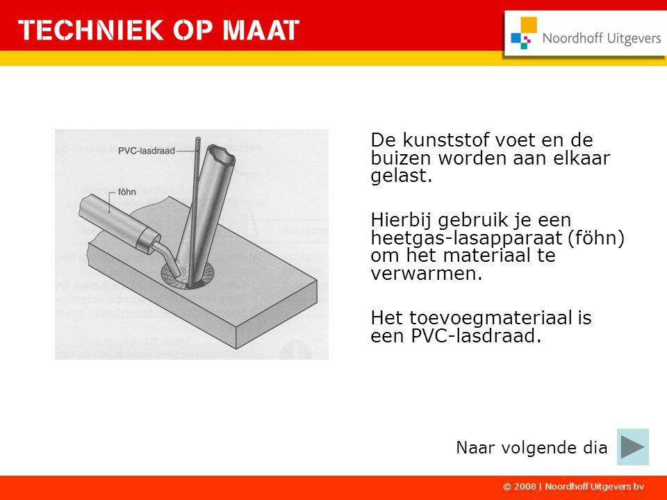 © 2008   Noordhoff Uitgevers bv De beugels ga je aan de houder puntlassen.