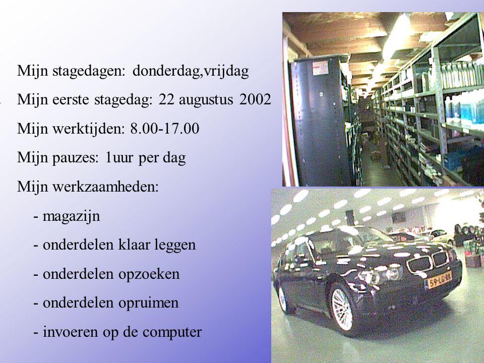 Dusseldorp is een bmw garage Adres: hanzeweg 47 Plaats: deventer **Wat voor bedrijf is het .