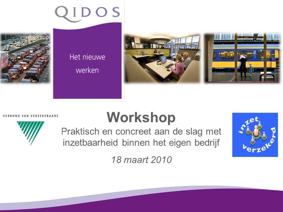 Workshop Praktisch en concreet aan de slag met inzetbaarheid binnen het eigen bedrijf 18 maart 2010