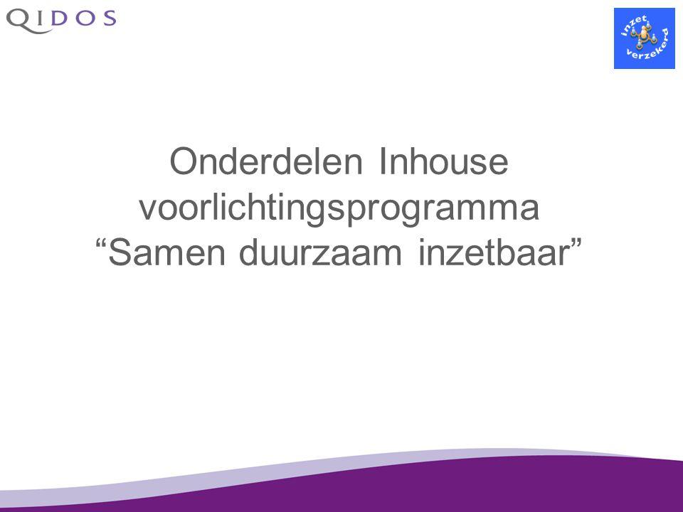 """Onderdelen Inhouse voorlichtingsprogramma """"Samen duurzaam inzetbaar"""""""