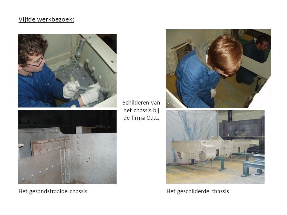 Zesde werkbezoek: Opmeten watertanks Optekenen van onderdelen van het aandrijvingsmechanisme
