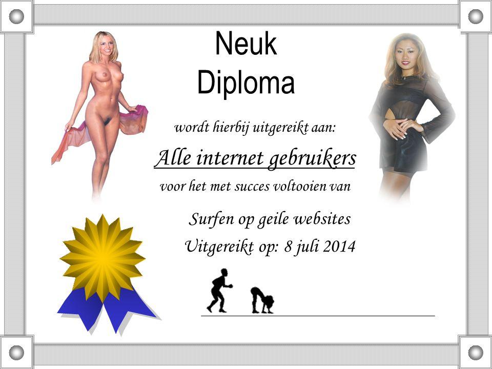 Welkom Bij deze gelegenheid Deze keer ga ik een Diploma uitreiken….. Van harte gefeliciteerd alvast!?