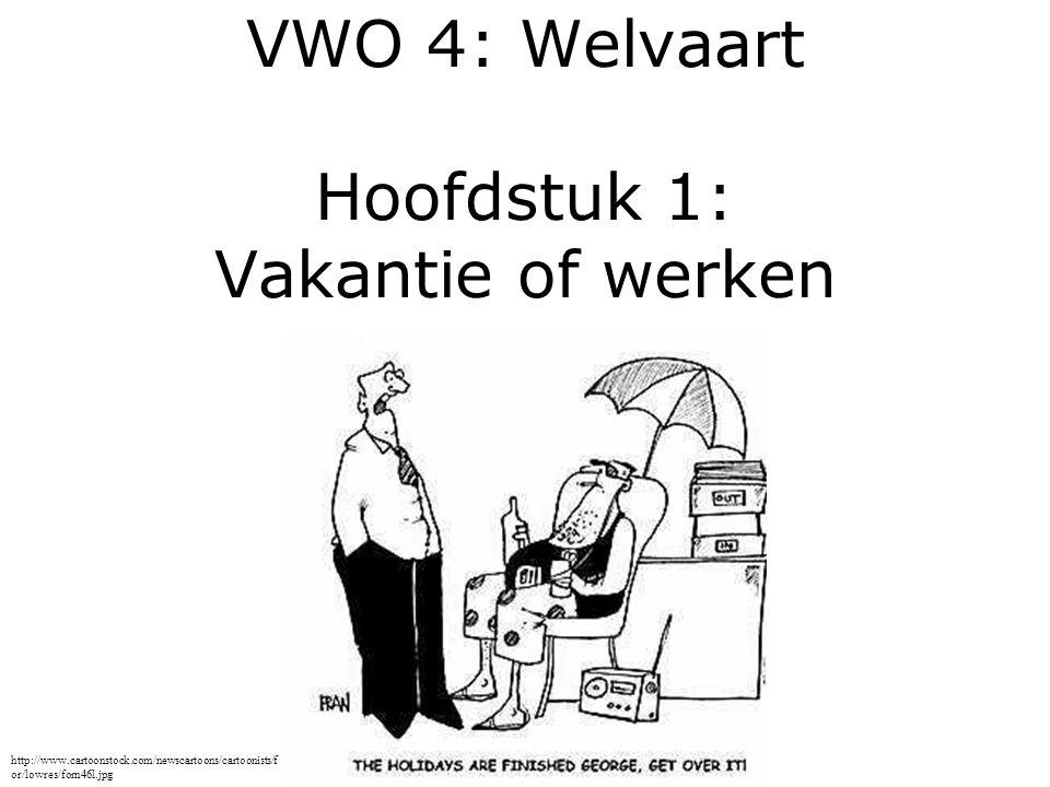 VWO 4: Welvaart Hoofdstuk 1: Vakantie of werken http://www.cartoonstock.com/newscartoons/cartoonists/f or/lowres/forn46l.jpg