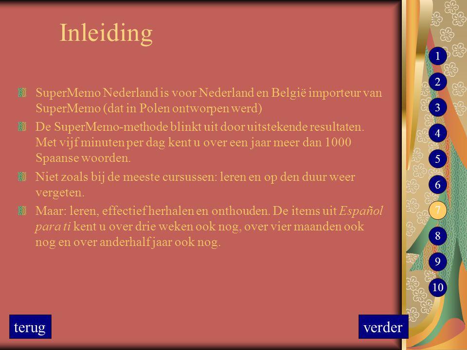 Inleiding SuperMemo Nederland is voor Nederland en België importeur van SuperMemo (dat in Polen ontworpen werd) De SuperMemo-methode blinkt uit door u