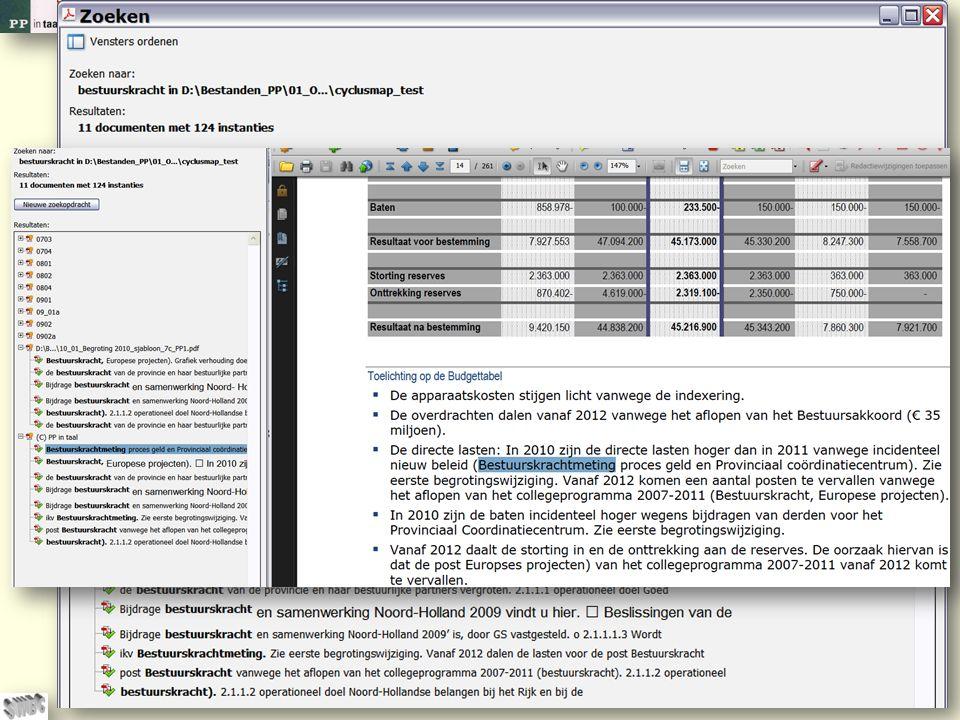 © PP in taal 27 Of u zoekt binnen versies van een document