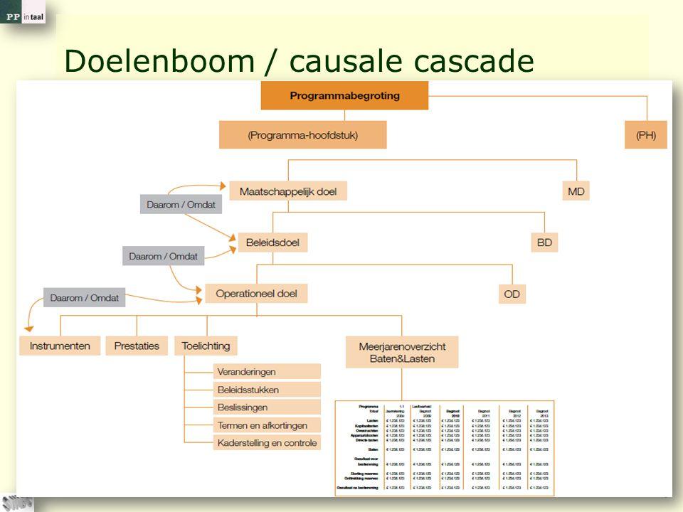 © PP in taal 8 Doelenboom / causale cascade