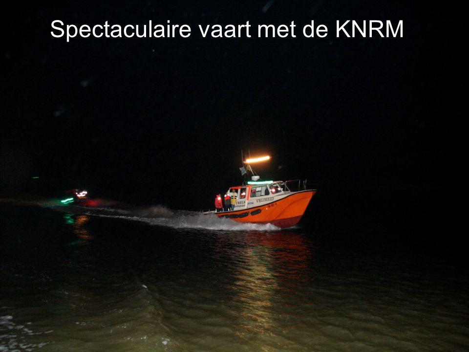 Spectaculaire vaart met de KNRM