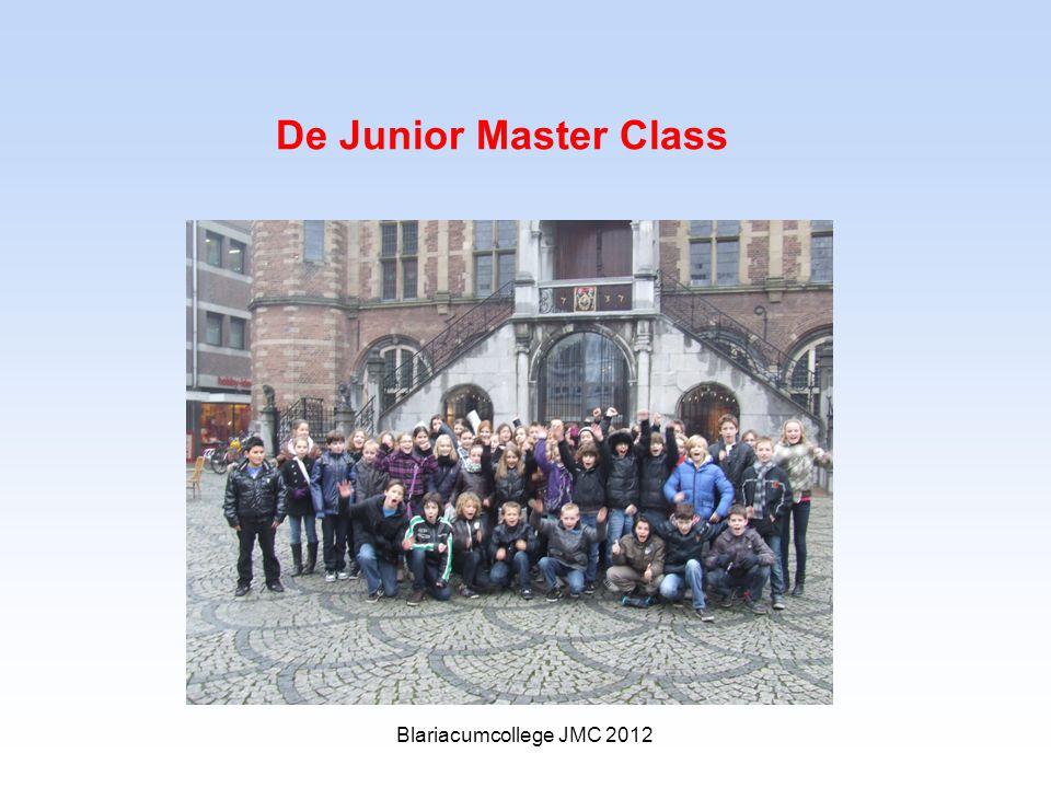 De Junior Master Class Blariacumcollege JMC 2012