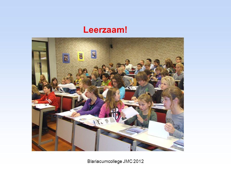 Leerzaam! Blariacumcollege JMC 2012