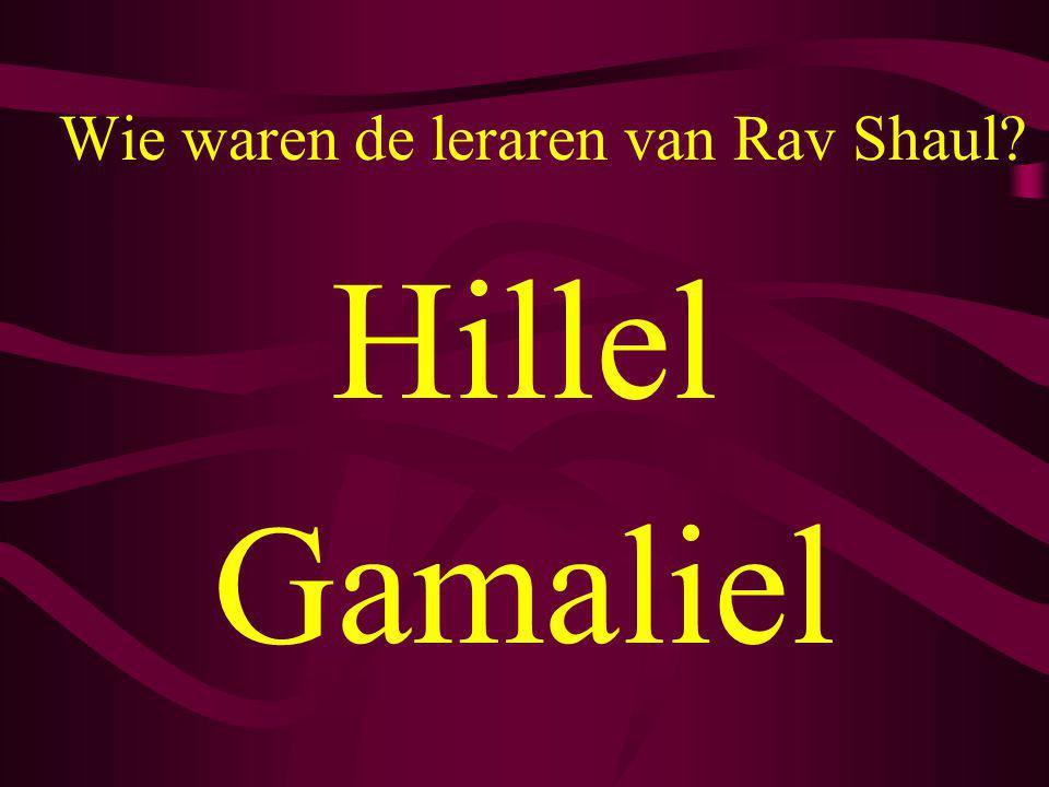 Wie waren de leraren van Rav Shaul? Hillel Gamaliel