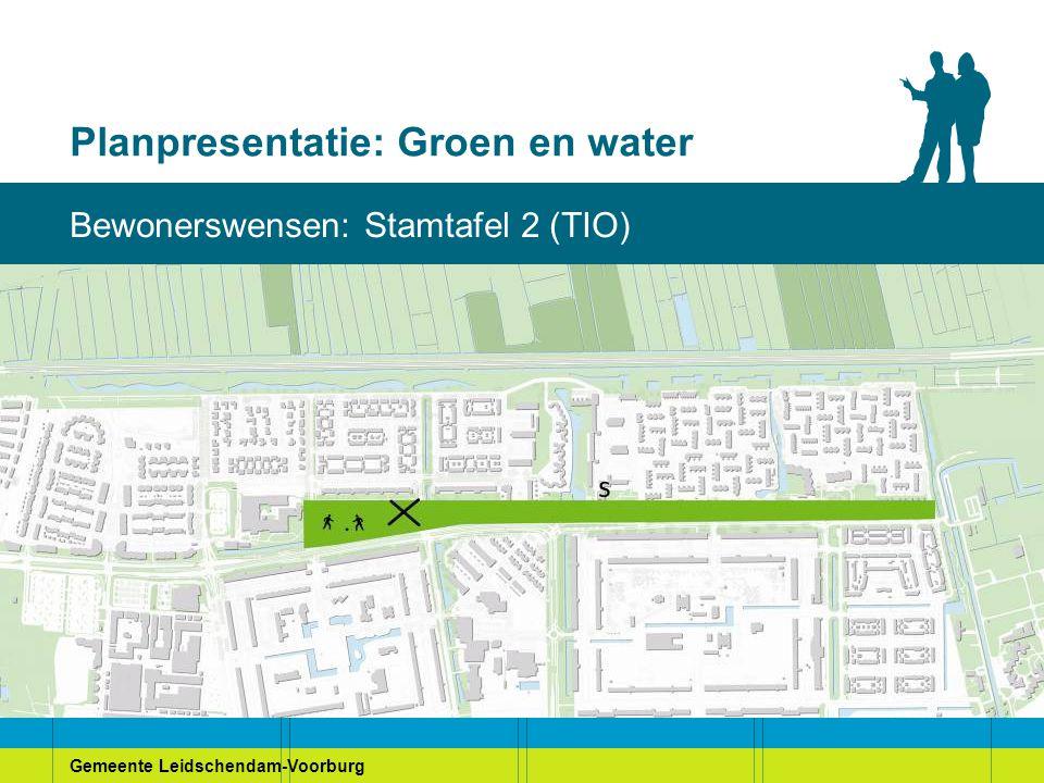 Gemeente Leidschendam-Voorburg Planpresentatie: Groen en water Bewonerswensen: Stamtafel 2 (TIO)