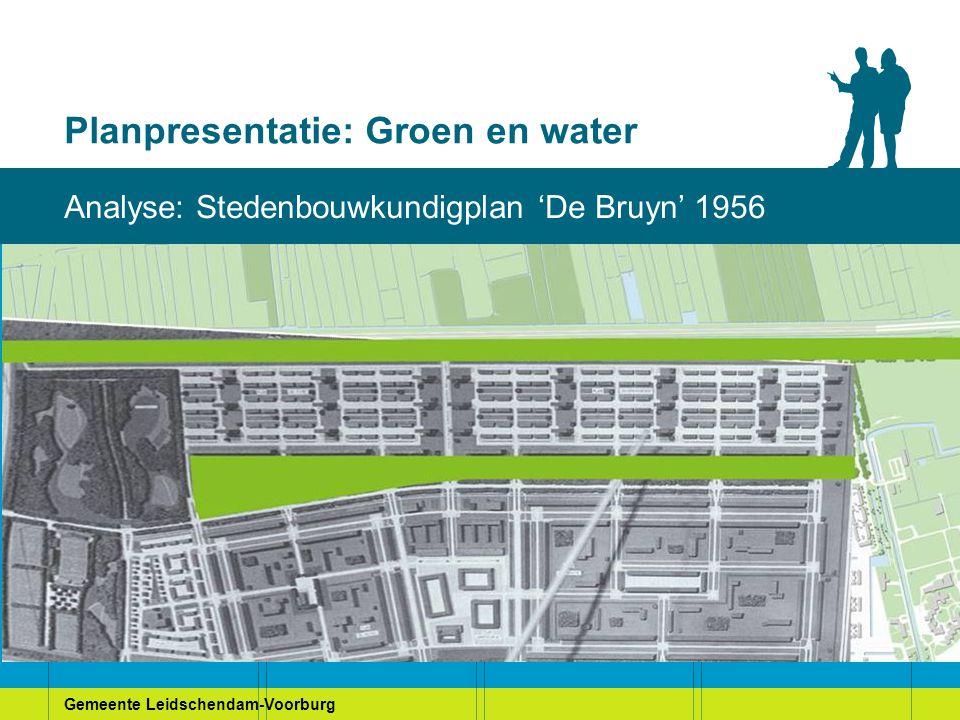 Gemeente Leidschendam-Voorburg Planpresentatie: Groen en water Bewonerswensen: Stamtafel 3 (Duivenvoorde)