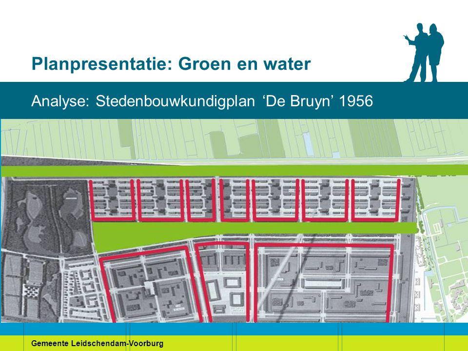 Gemeente Leidschendam-Voorburg Planpresentatie: Groen en water Bewonerswensen: Stamtafel 4 (het plangebied)